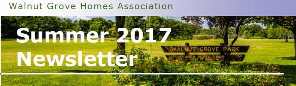 Walnut Grove Newsletter header